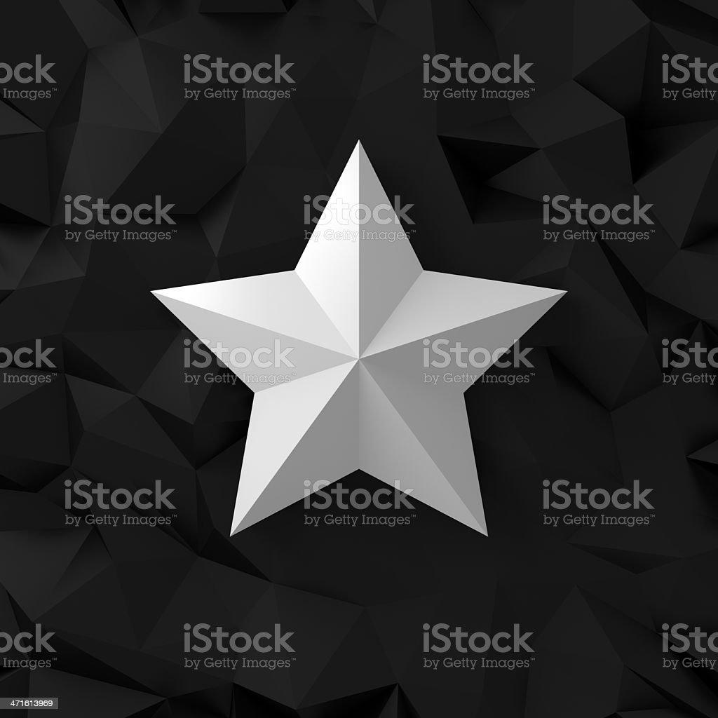 Chrome star on the black stock photo