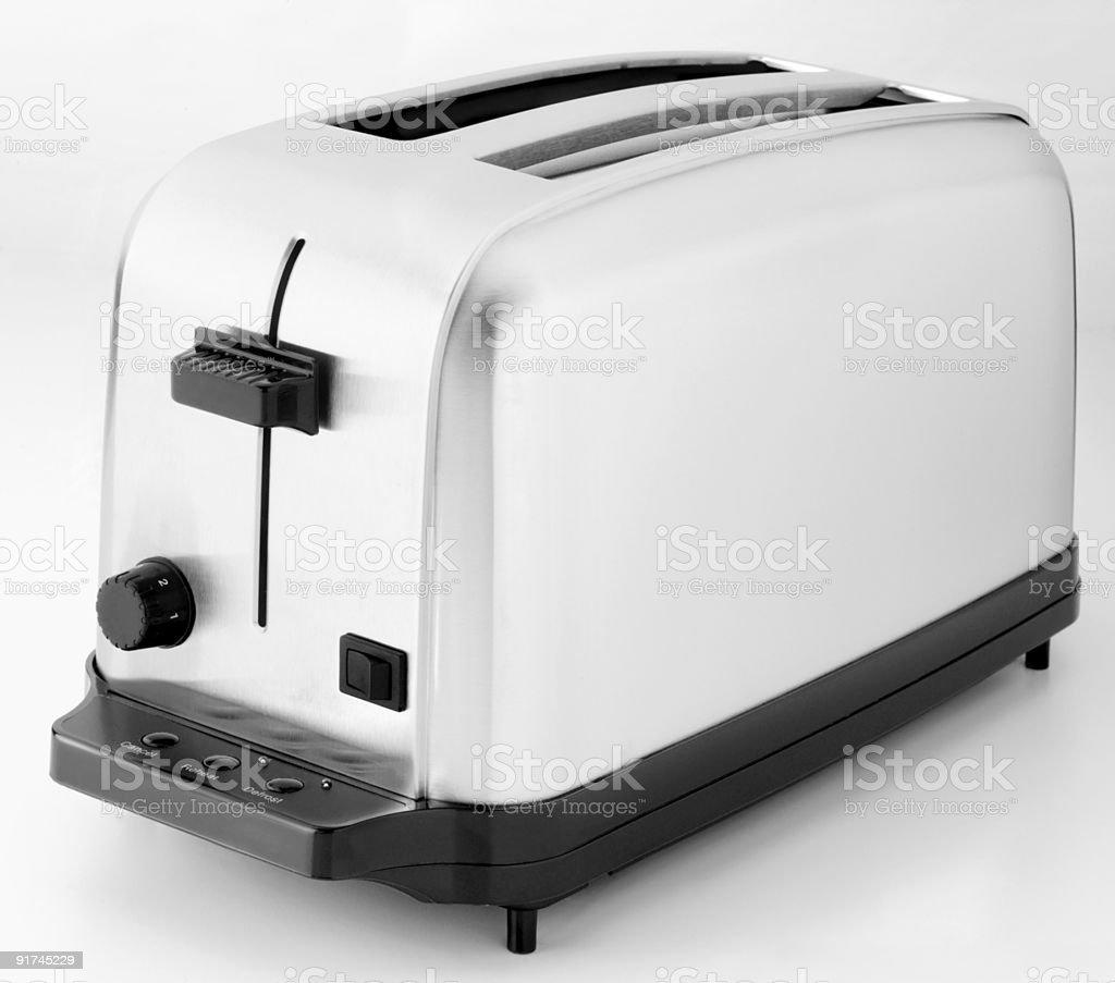 Chrome Toaster on white stock photo