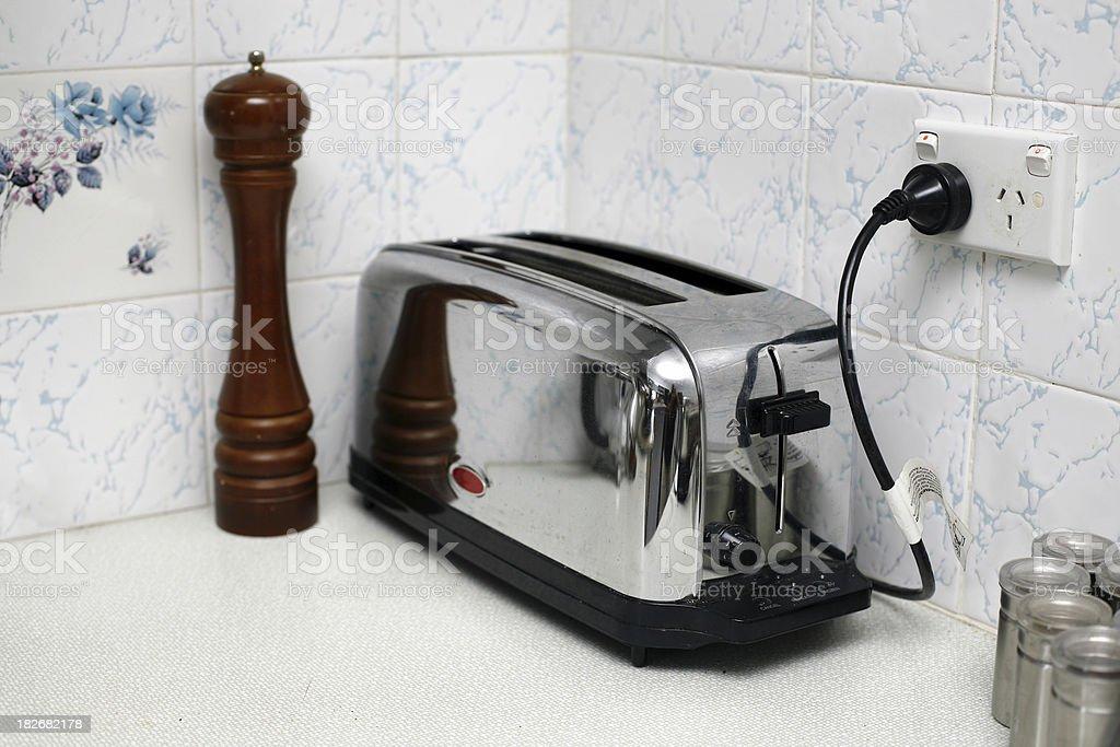Chrome Toaster stock photo