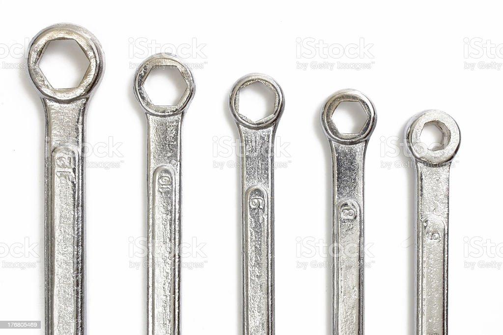 Chrome tools stock photo