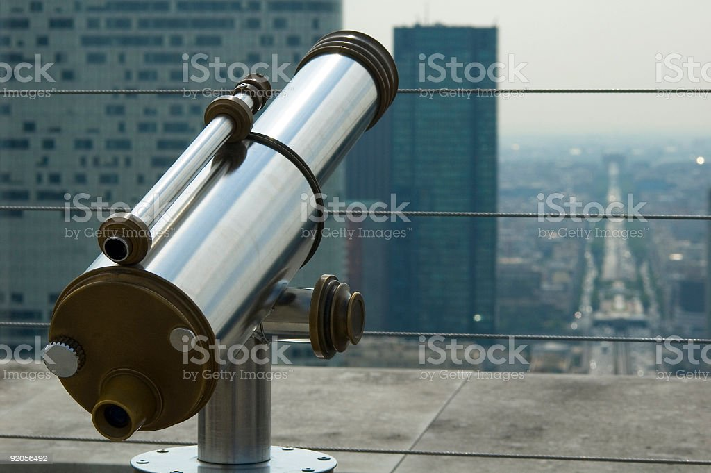 Chrome tourist telescope royalty-free stock photo