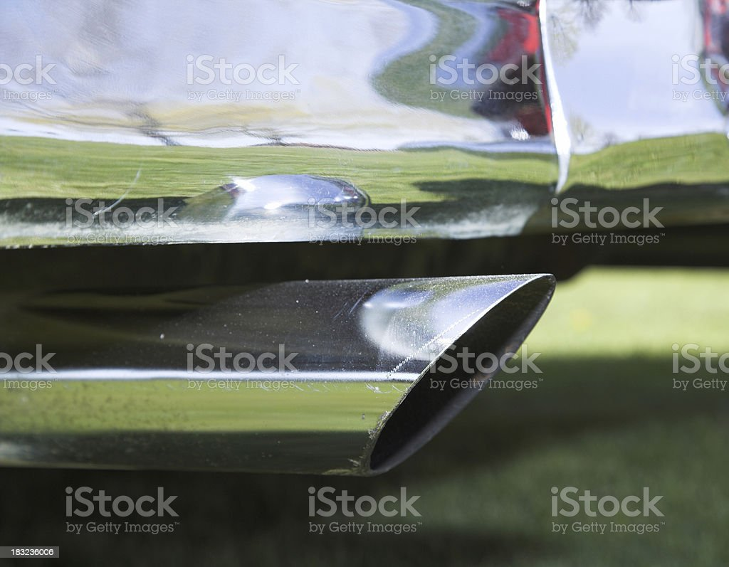Chrome Vehicle exhaust royalty-free stock photo