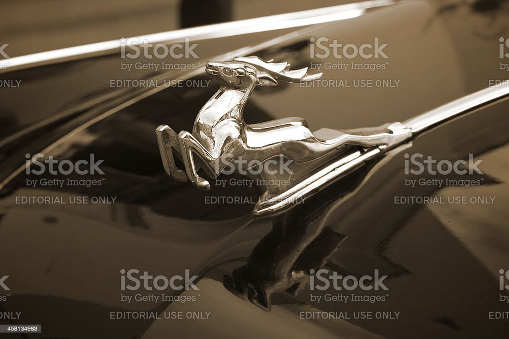 Chrom Volga Emblem Lizenzfreies stock-foto