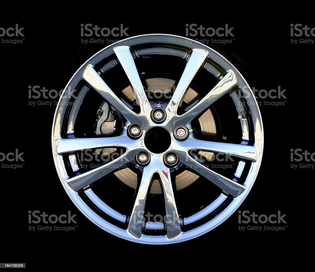 Chrome Wheel royalty-free stock photo
