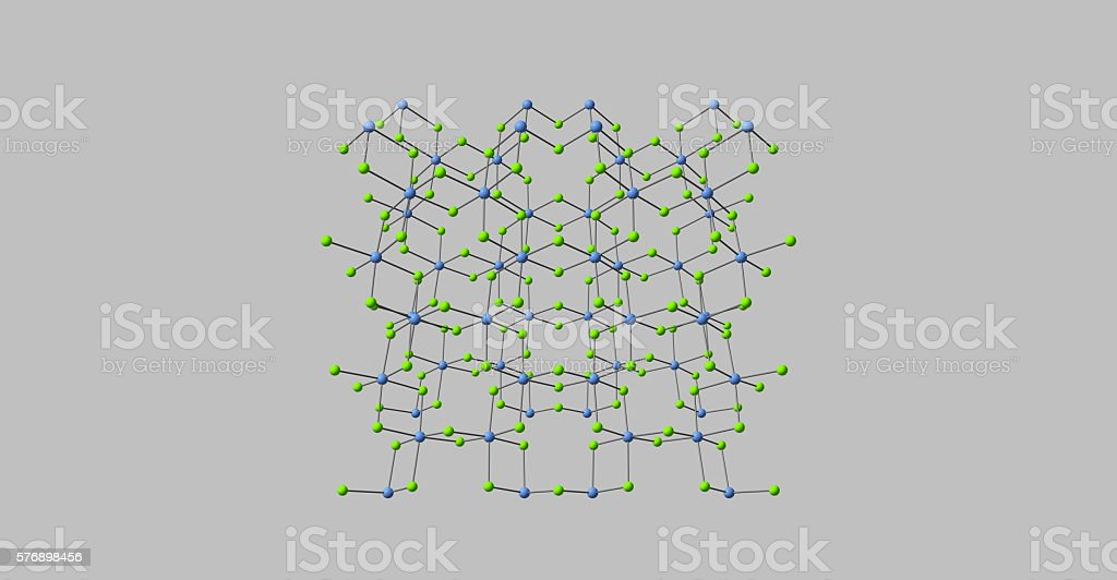 Chromic chloride molecular structure isolated on blacgreyk stock photo