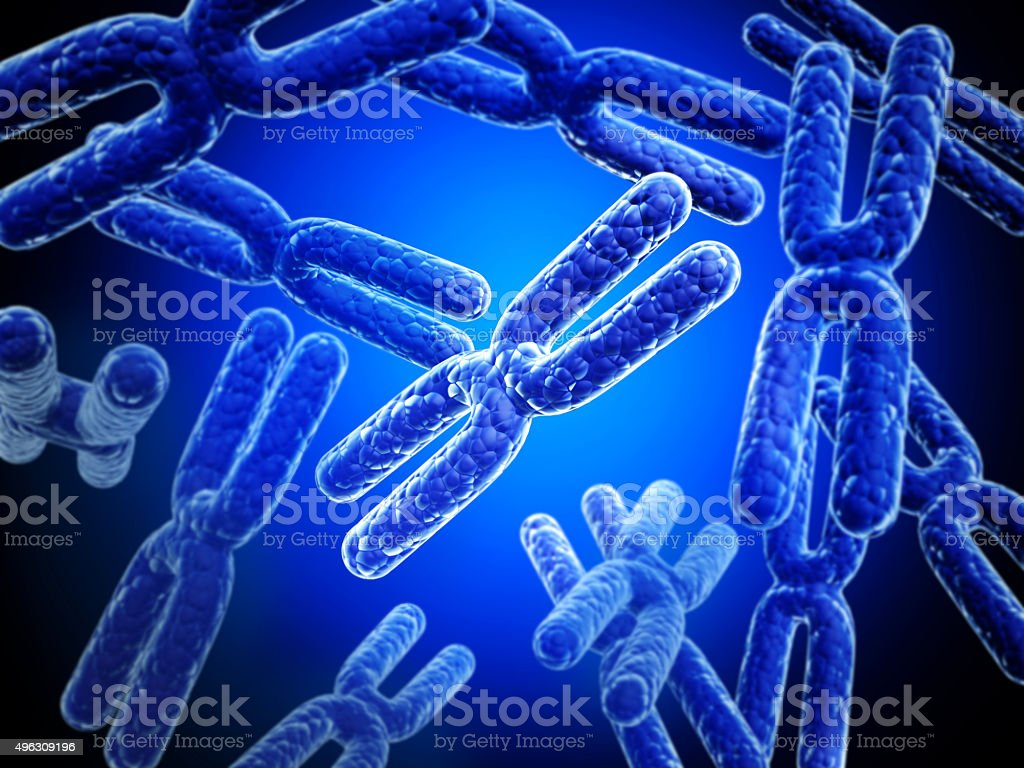X chromosome on abstract background stock photo