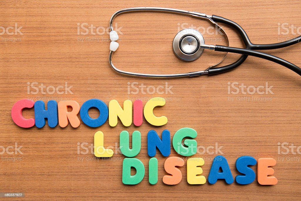 Chronic lung disease (CLD) stock photo