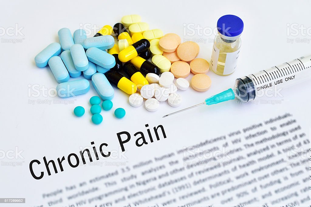 Chronic pain stock photo