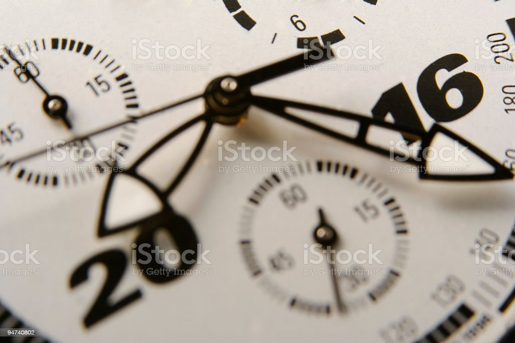 Chronograph close up stock photo