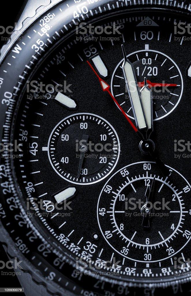 chronograph wristwatch royalty-free stock photo