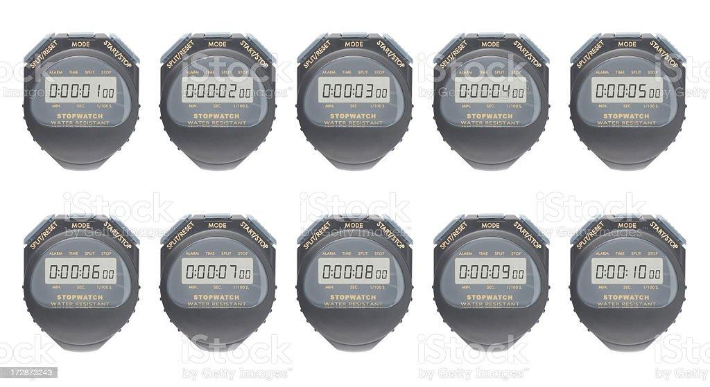 Chronometer 1-10 seconds royalty-free stock photo