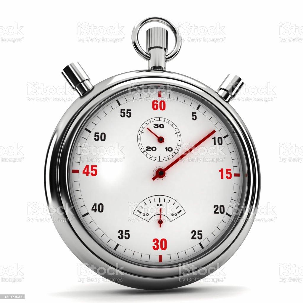 Chronometer isolated on white stock photo