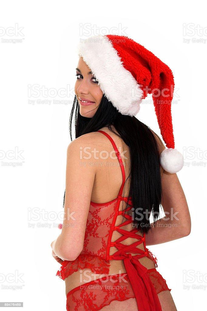 Chrsitmas sexy girl royalty-free stock photo