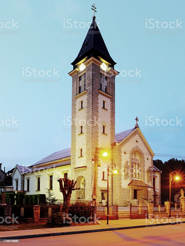 Chruch in Terchova village - Slovakia royalty-free stock photo