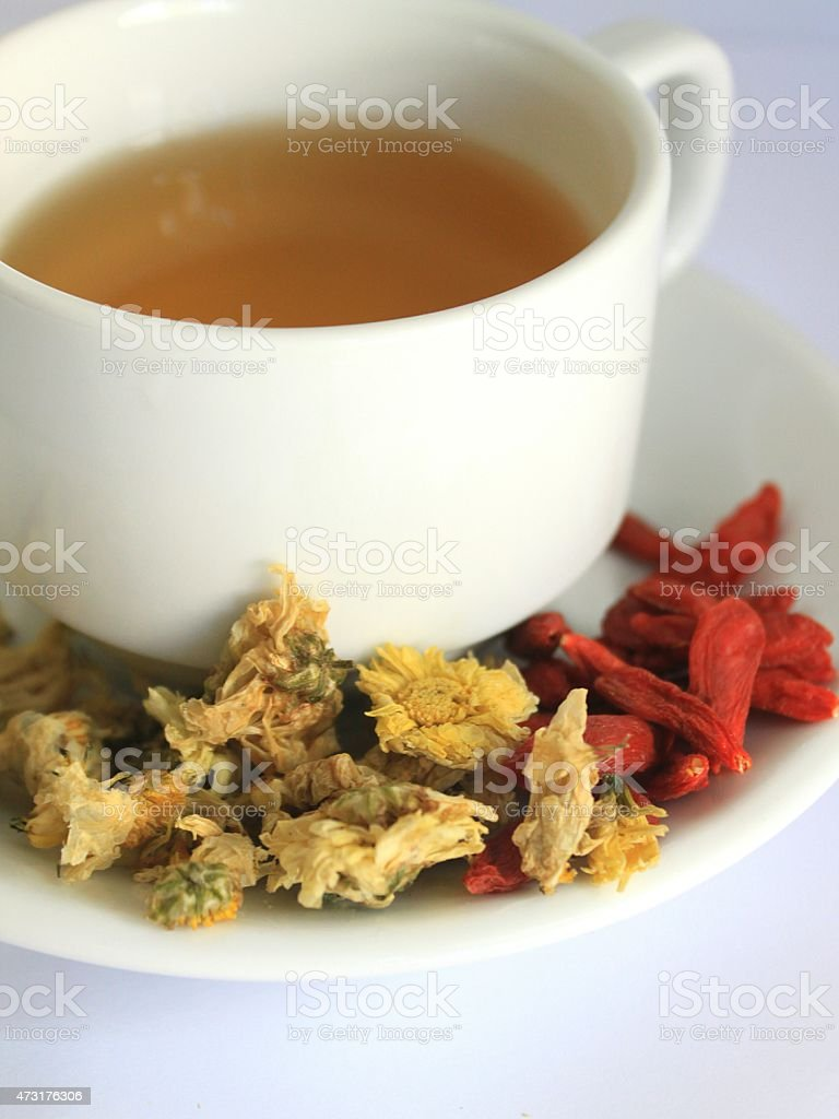 chrysanthemum and Lycium tea stock photo