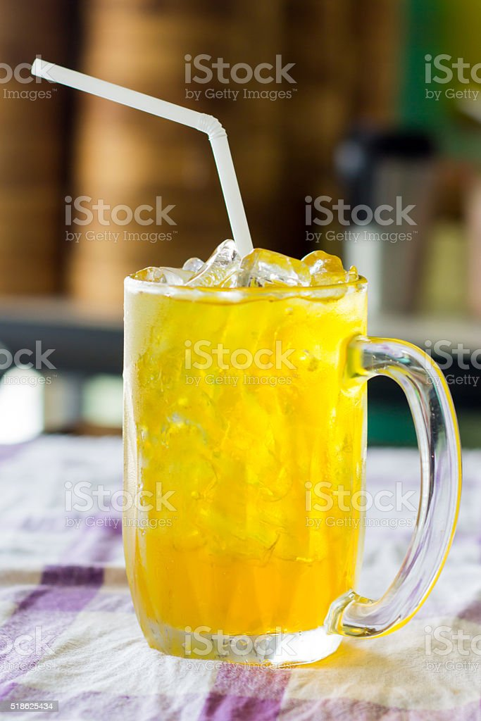 Chrysanthemum juice, refreshing cold drink stock photo