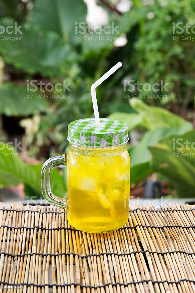 Chrysanthemum tea with ice stock photo
