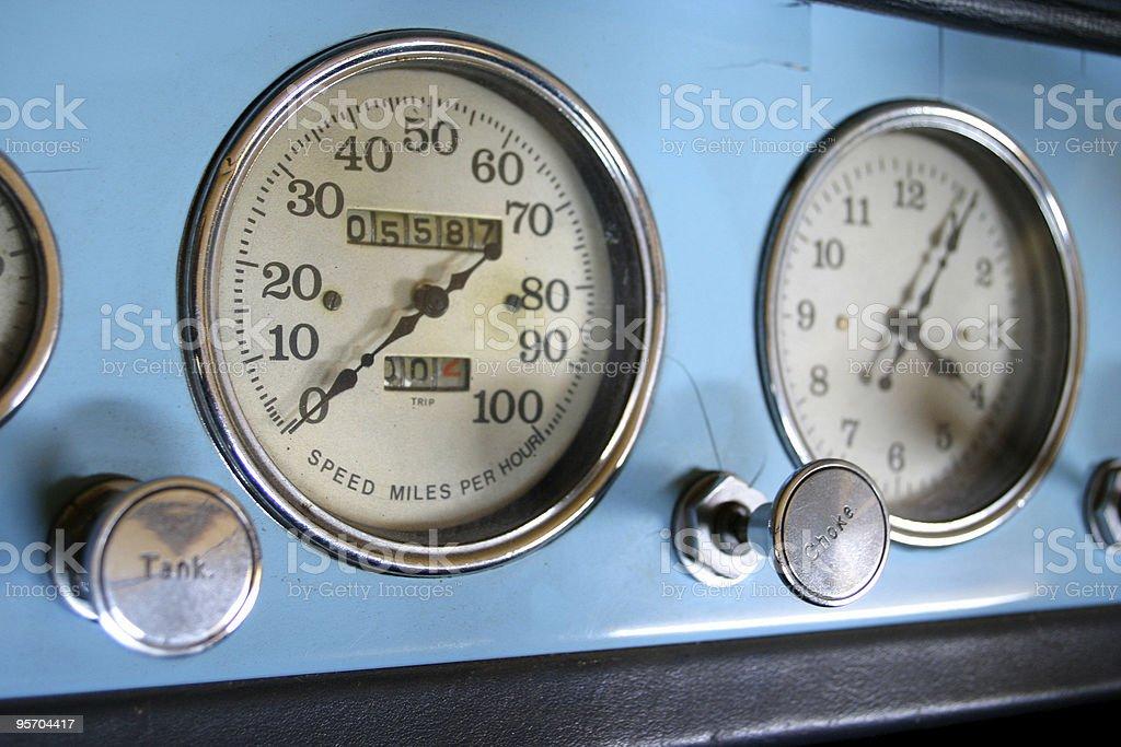 Chryseler Speedometer royalty-free stock photo