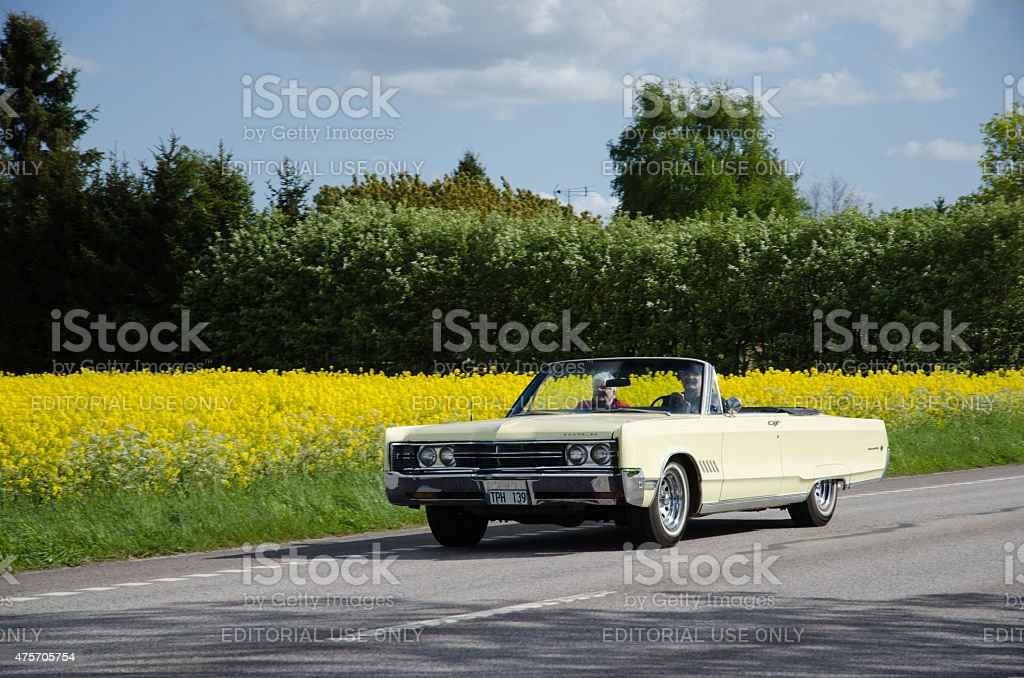 Chrysler 300 classic car on the road stock photo