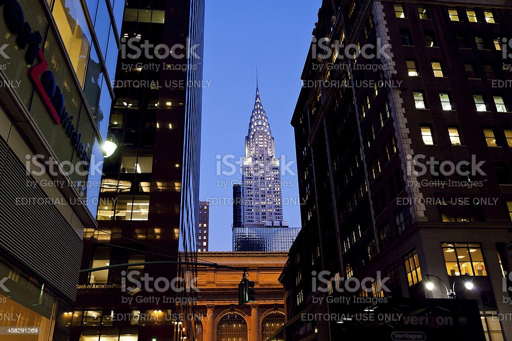 Chrysler Building in New York royalty-free stock photo