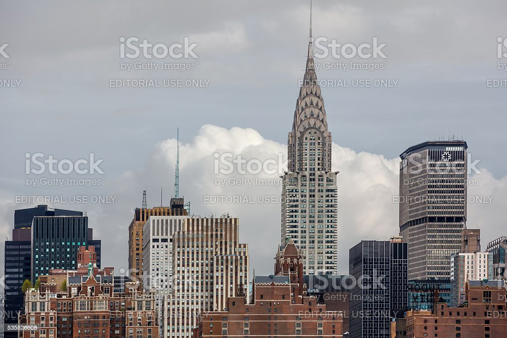 Chrysler Building in New York. stock photo