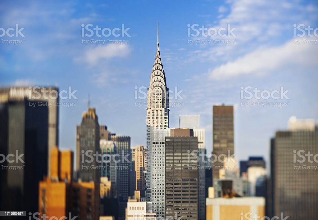 Chrysler building, Manhattan, New York City, USA royalty-free stock photo