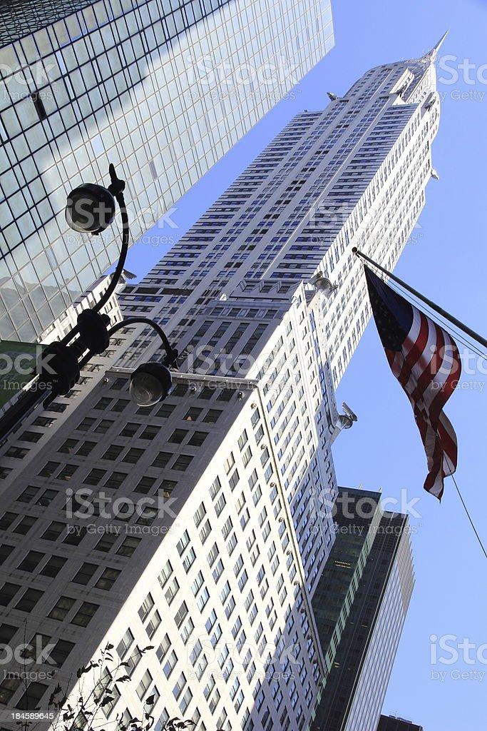 Chrysler Building of New York stock photo