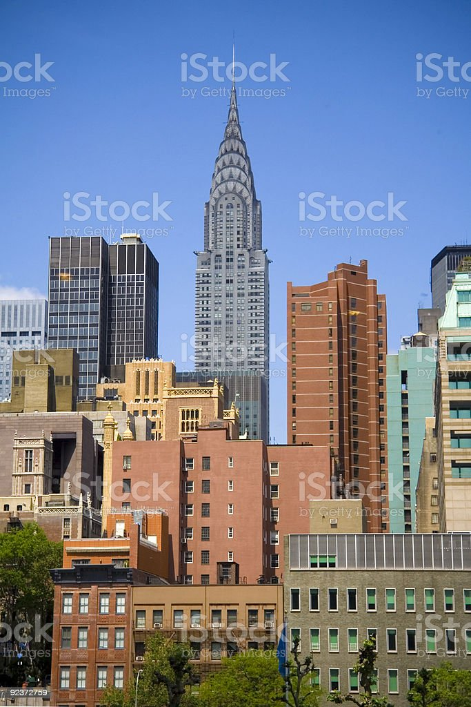 Chrysler Building royalty-free stock photo