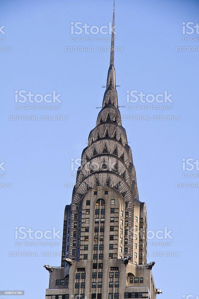 Chrysler Building Top Detail royalty-free stock photo