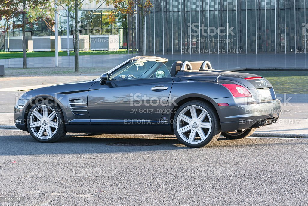 Chrysler Crossfire, before the administration building of Thysse stock photo