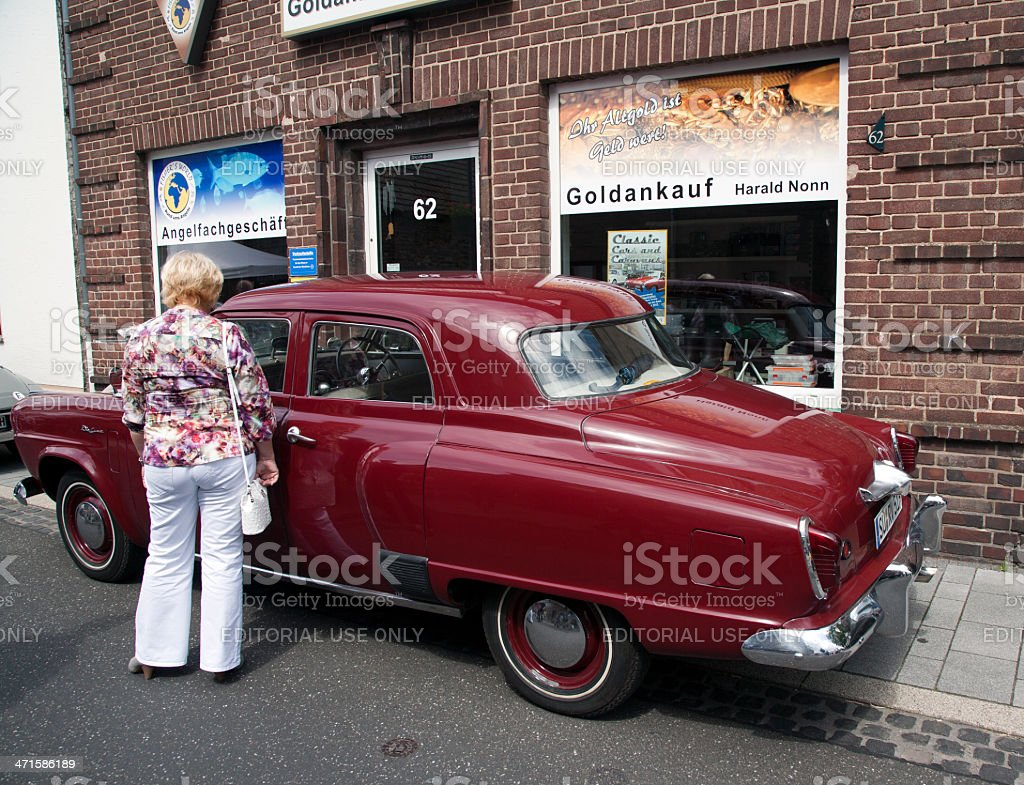 Chrysler De Soto classic car stock photo