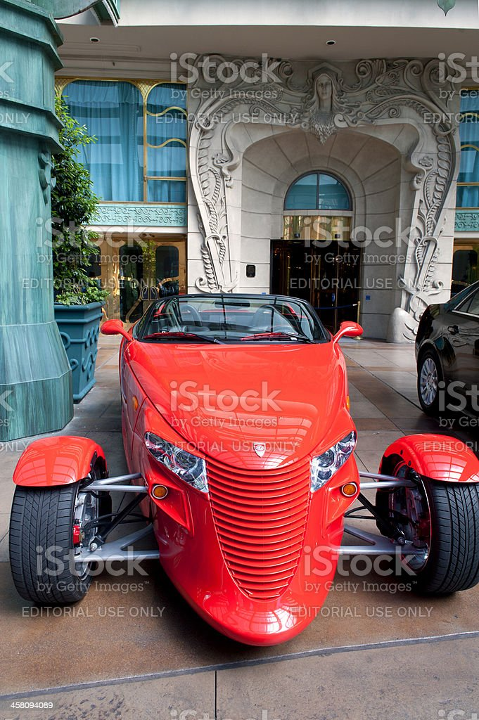 Chrysler Prowler Hot Rod, 1999, Red with Black Interior stock photo