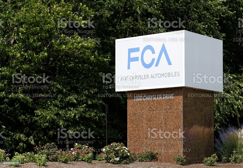 Chrysler World Headquarters stock photo