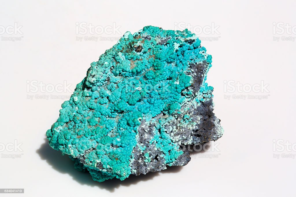 Chrysocolla  mineral formation stock photo