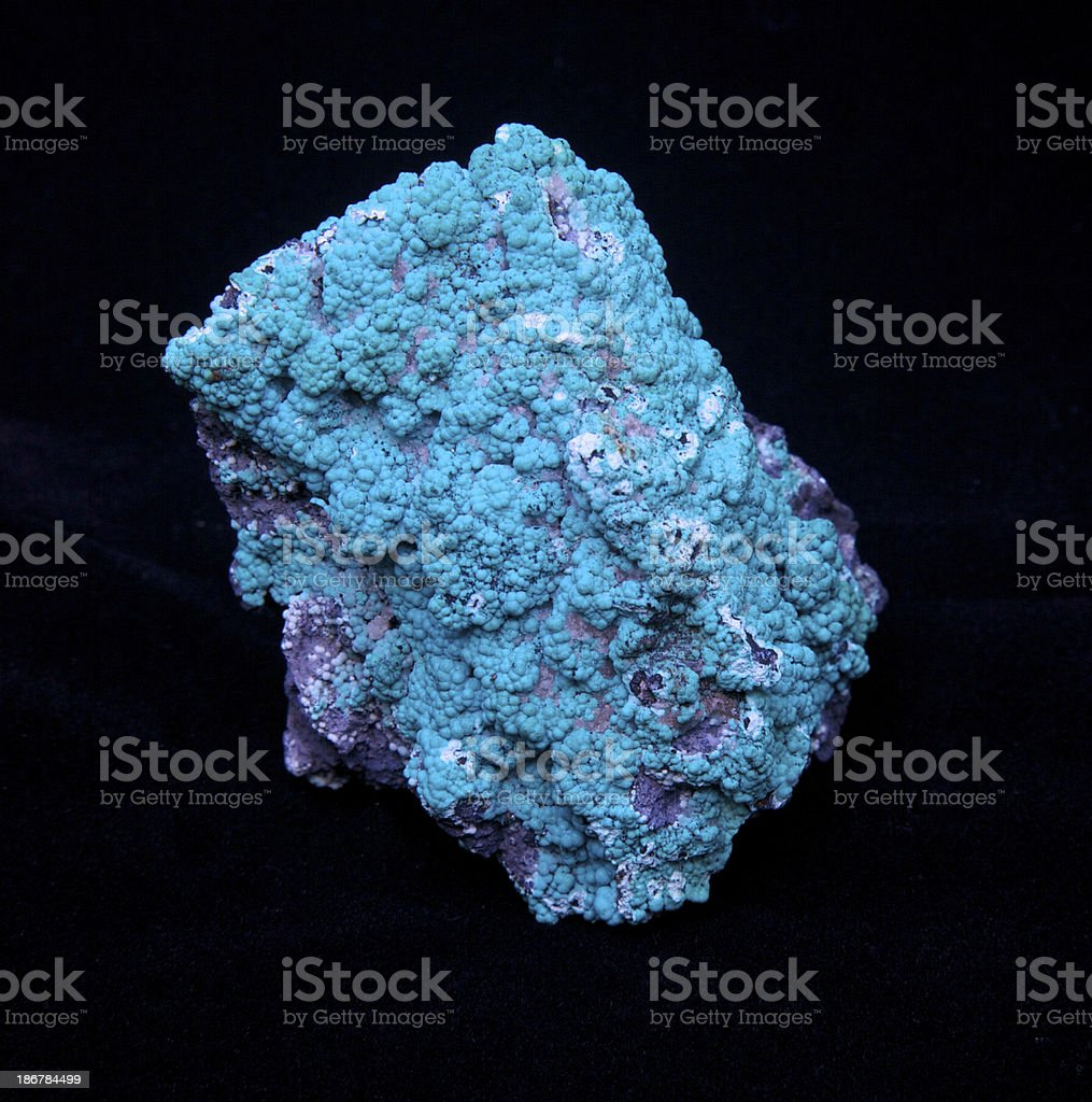 Chrysocolla Mineral royalty-free stock photo