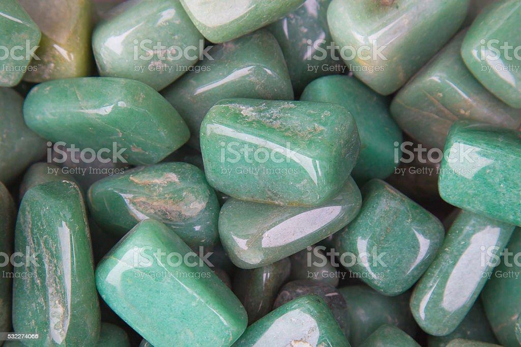 Chrysoprase gemstone. Jadeite mineral stock photo