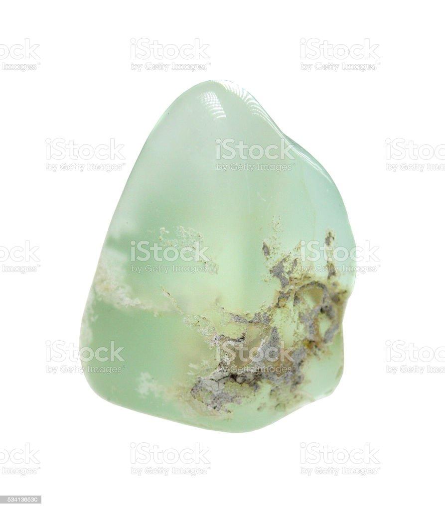 Chrysoprase - semiprecious stone stock photo