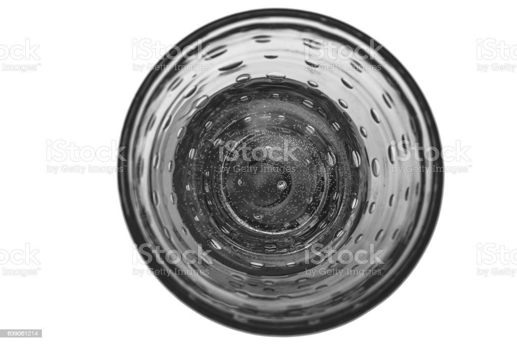 Chrystal glass with champagne or water isolated on white stock photo