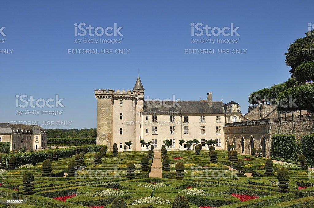 Château de Villandry royalty-free stock photo