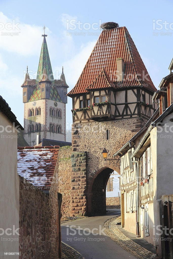 Ch?tenois in Alsace royalty-free stock photo
