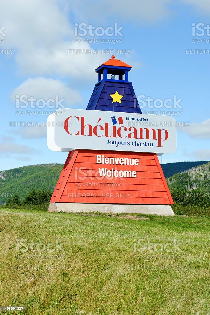 Chéticamp welcomes you royalty-free stock photo