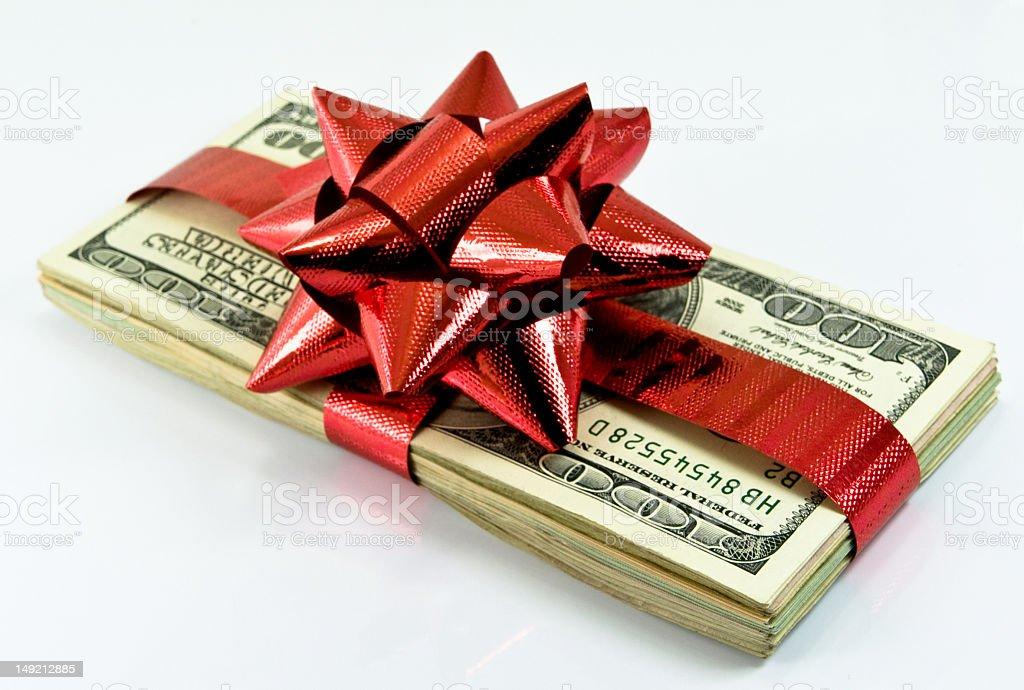 chtistmas money royalty-free stock photo