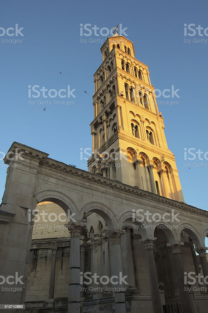 Chuch of St. Duje stock photo