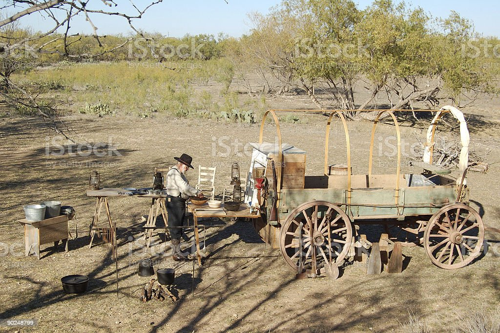 Chuck Wagon and Cook stock photo