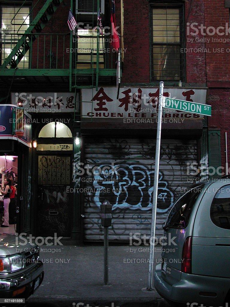 Chuen Lee Fabrics on Division Street Chinatown NYC 2003 stock photo