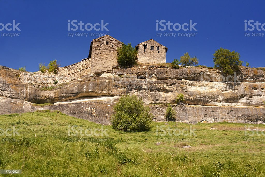 Chufut Kale, Karaim ancient rock fort XI century, Crimea royalty-free stock photo