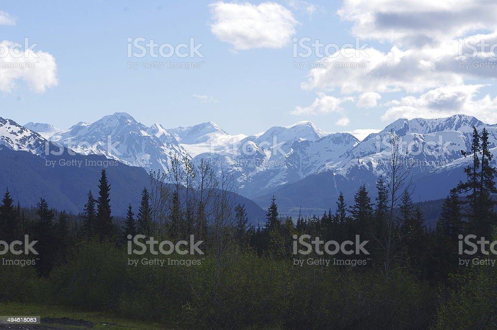 Chugach Mountain Range stock photo