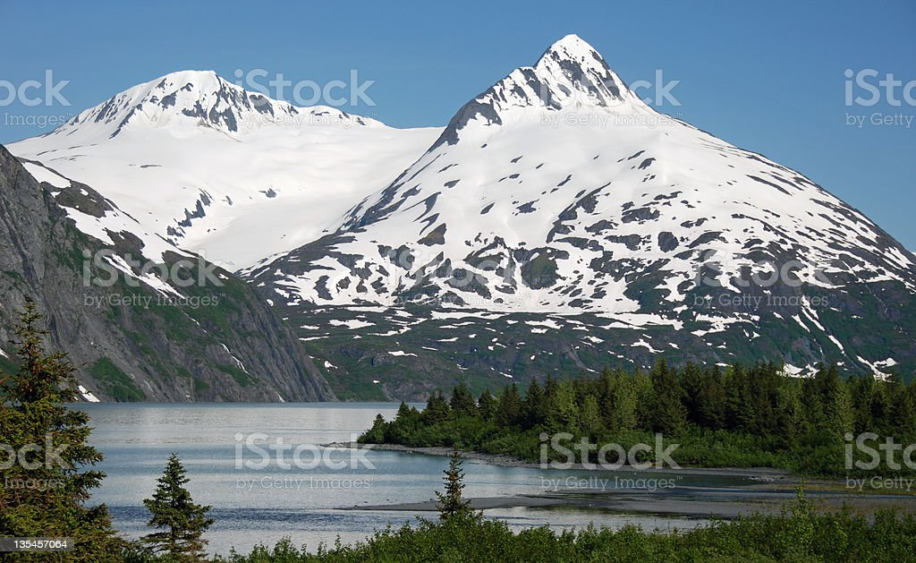 Chugach Mountains, Alaska stock photo