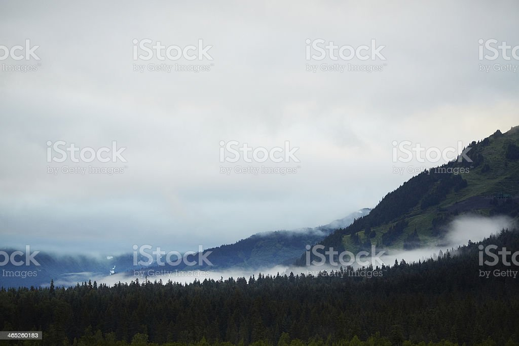 Chugach National Forest outside Anchorage and Turnagain Arm, Alaska stock photo