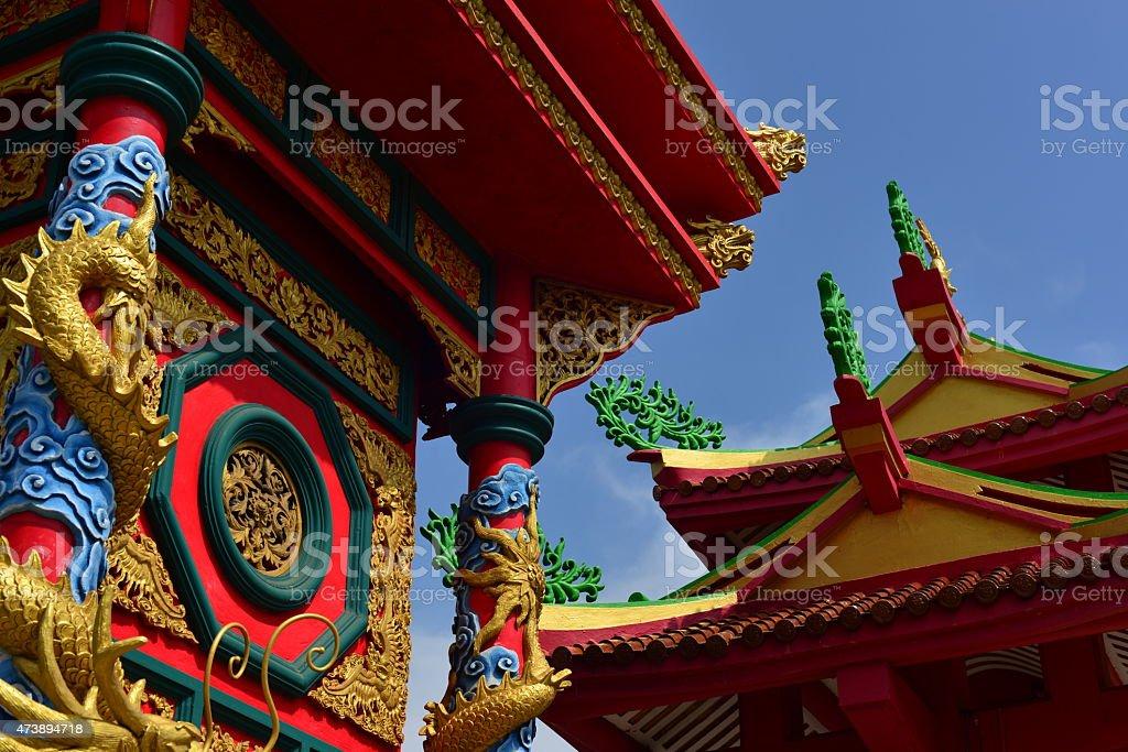 Chui Tui Chinese shrine, Phuket town, Thailand. stock photo